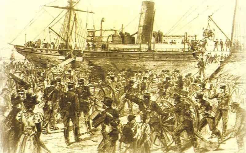 3 Φεβρουαρίου 1897: ο Τιμολέων Βάσσος με 1500 άνδρες αποβιβάζεται στην Κρήτη