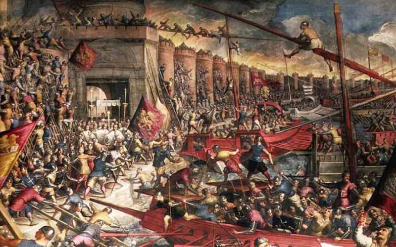 13 Απριλίου 1204, η Άλωση της Κωνσταντινούπολης από τους Σταυροφόρους