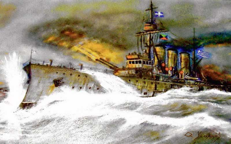 5 Ιανουαρίου 1913: Η Ναυμαχία της Λήμνου – Ο καταλυτικός ρόλος του θωρηκτού «Αβέρωφ»