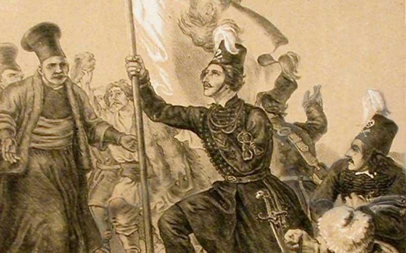 22 Φεβρουαρίου 1821, ο Αλέξανδρος Υψηλάντης διέρχεται τον Προύθο